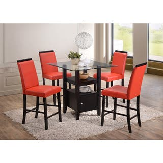 KB White Red Black Grey Faux Leather Parsons Chairs Set Of