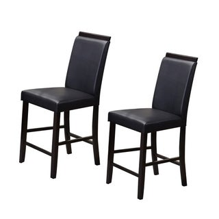 K&B White/Red/Black/Grey Faux-leather Parsons Chairs (Set of 2)