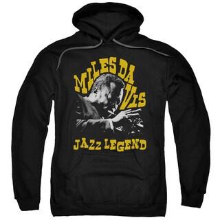 Miles Davis/Jazz Legend Adult Pull-Over Hoodie in Black