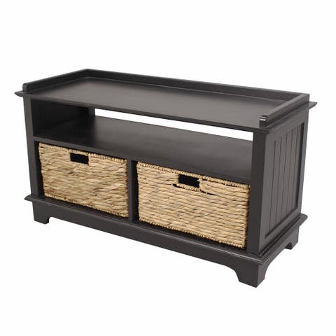 Black Wood Multipurpose Cabinet