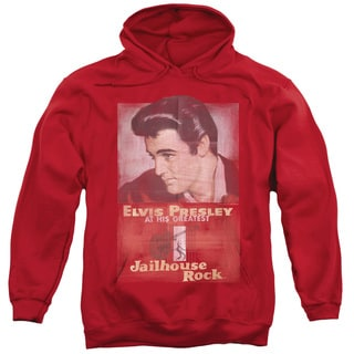 Elvis/Jailhouse Rock Poster Adult Pull-Over Hoodie in Red