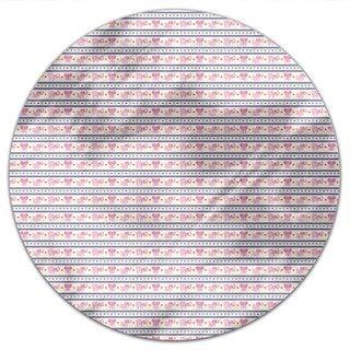 Pink Elephants Round Tablecloth