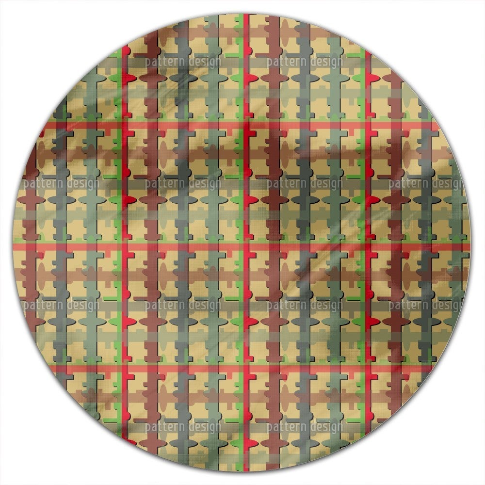 Uneekee Key Point Round Tablecloth (Large), Multi (Polyes...