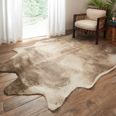 Alexander Home Faux Cowhide Area Rug