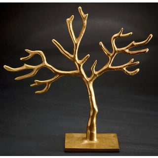 Gold 20 Branch Cast Tree of Life Jewelry Holder