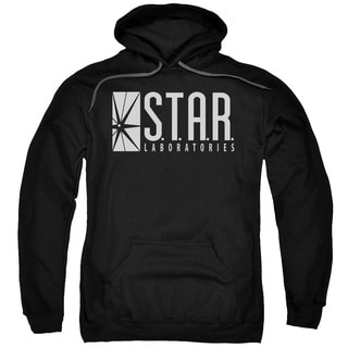 The Flash/S.T.A.R. Adult Pull-Over Hoodie in Black
