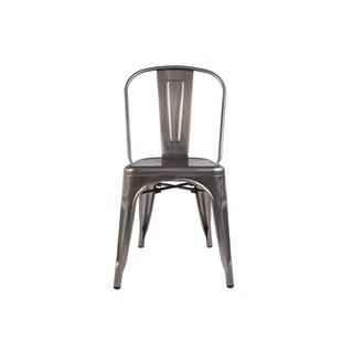 Hans Andersen Home Geraldton Gray Steel Water-resistant Side Chair