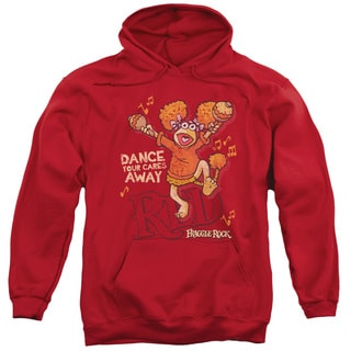 Fraggle Rock/Dance Adult Pull-Over Hoodie in Red