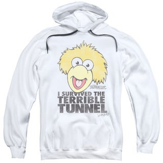 Fraggle Rock/Terrible Tunnel Adult Pull-Over Hoodie in White