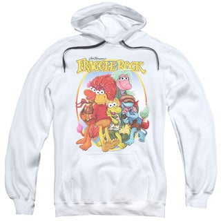Fraggle Rock/Group Hug Adult Pull-Over Hoodie in White