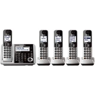 Panasonic KX-TGF375S Link2Cell Bluetooth Backlit Keypad Silver Cordless Phone and Answering Machine with 5 Handsets|https://ak1.ostkcdn.com/images/products/11864547/P18764116.jpg?impolicy=medium