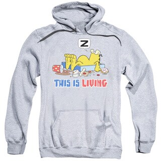 Garfield/This Is Living Adult Pull-Over Hoodie in Athletic Heather