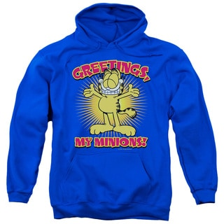 Garfield/Minions Adult Pull-Over Hoodie in Royal Blue