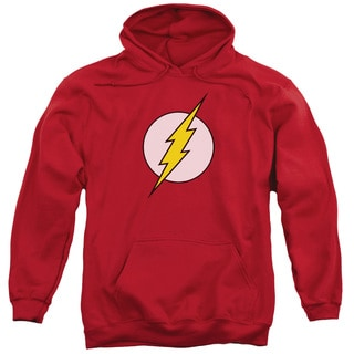 DC/Flash Logo Adult Pull-Over Hoodie in Red