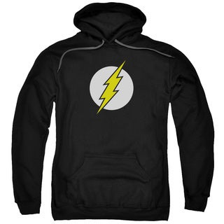 DC/Flash Logo Adult Pull-Over Hoodie in Black
