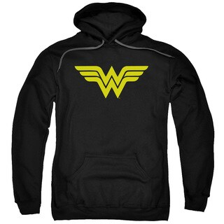 DC/Wonder Woman Logo Adult Pull-Over Hoodie in Black