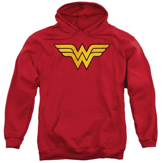 DC/Wonder Woman Logo Dist Adult Pull-Over Hoodie in Red