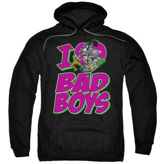 DC/I Heart Bad Boys Adult Pull-Over Hoodie in Black