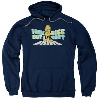 Garfield/Rise Not Shine Adult Pull-Over Hoodie in Navy