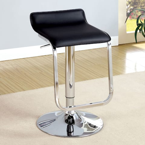Furniture of America Ced Contemporary Faux Leather Adjustable Barstool