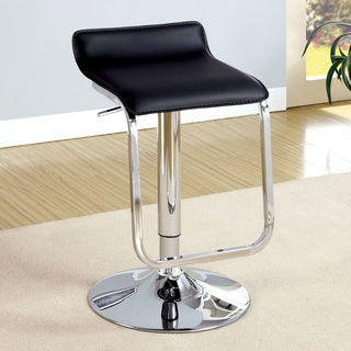 Furniture of America Laina Smooth Contemporary Adjustable Waterfall Bar Stool