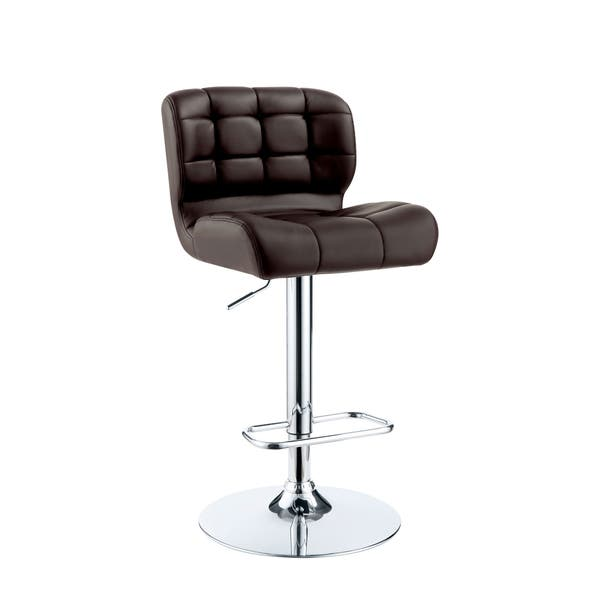 Strange Shop Selma Contemporary Tufted Swivel Adjustable Bar Chair Pabps2019 Chair Design Images Pabps2019Com