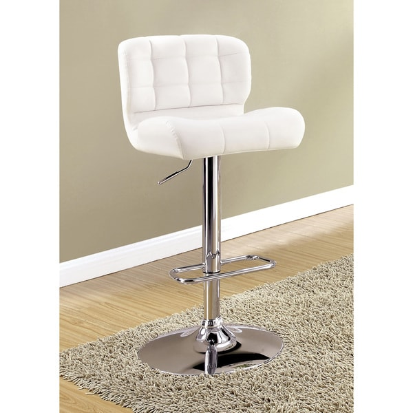 Furniture of America Beas Contemporary Faux Leather Swivel Bar Chair. Opens flyout.
