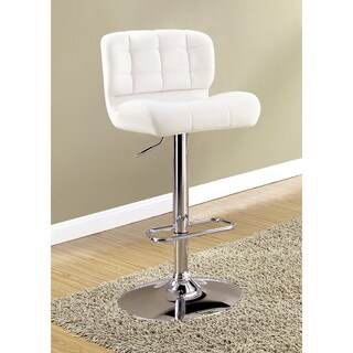 Furniture of America Selma Contemporary Tufted Swivel Adjustable Bar Chair