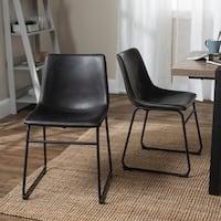 Carbon Loft Prusiner Faux Leather Dining Chair (Set of 2) - 18 x 22 x 28h