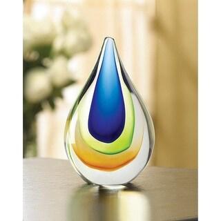 Shimmering Artful Glass Sculpture