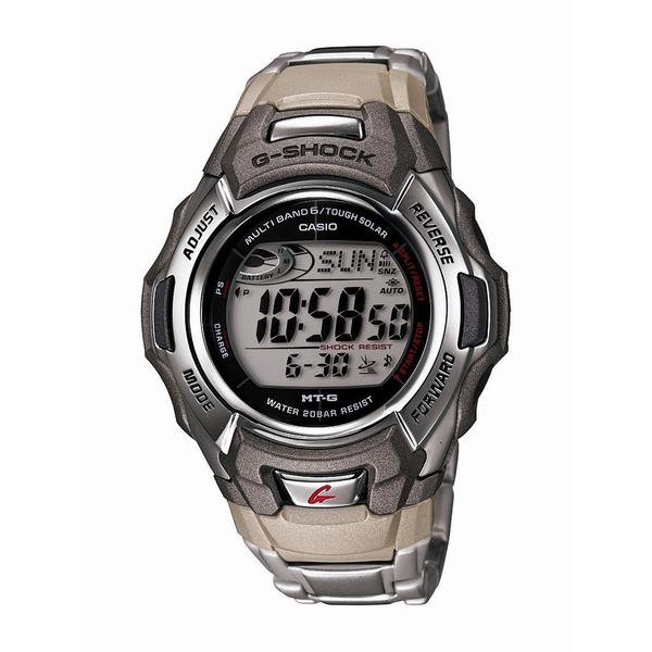 70f77e100 Shop Casio Mens G Shock Stainless Steel Tough Solar Atomic Digital Watch -  Free Shipping Today - Overstock - 11864904