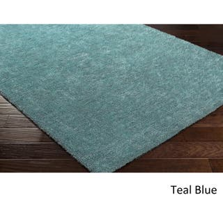 Logrono Contemporary Area Rug 8 X 10 Option Teal Blue