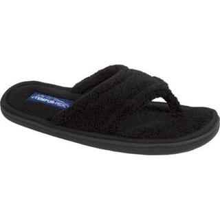 Women's Tempur-Pedic Airsock Black Terry Cloth