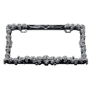 Pilot Automotive Mutely Skull License Plate Frame for Vehicles Automobile