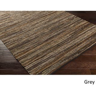 Hand Woven Balbach Leather/Cotton Rug (8' x 10')|https://ak1.ostkcdn.com/images/products/11865334/P18764680.jpg?impolicy=medium