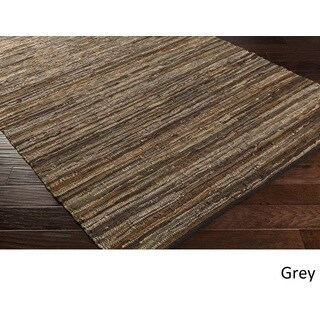 Pine Canopy Balsam Hand Woven Leather/Cotton Area Rug - 8' x 10'