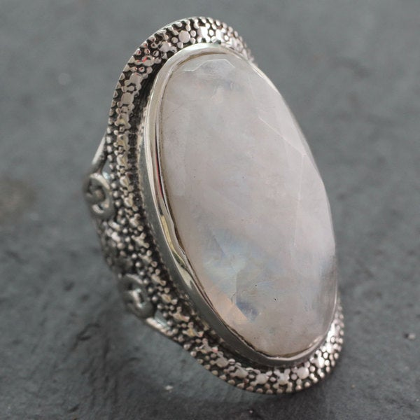 Handcrafted Sterling Silver 'Goddess' Rainbow Moonstone ...