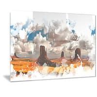 Designart 'Monument Valley National Park Metal Wall Art