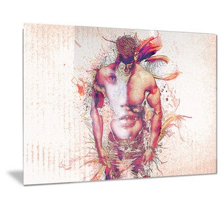 Designart 'In My Heart Sensual Metal Wall Art