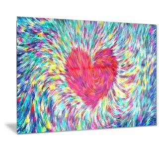 Designart 'Pastel Heart Sensual Metal Wall Art