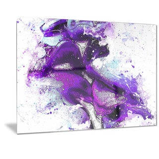 Designart 'Purple Kiss Sensual Metal Wall Art (3 options available)