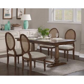 Farmhouse Oak Pedestal Dining Table