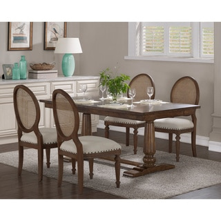 Stones U0026 Stripes Farmhouse Oak Pedestal Dining Table