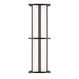 LBL Tubular Large 2 Light Bronze Outdoor Wall Sconce