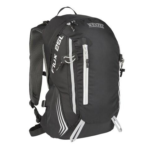 Wenzel Flux 25-liter Black Polyester Backpack