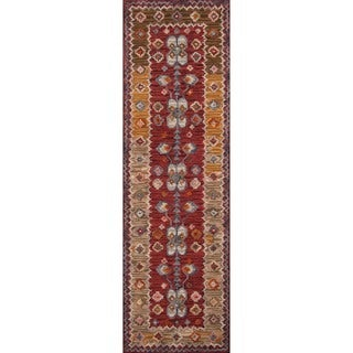 Hand-Tufted Kasbah Algiers Red Wool Rug (2'3 x 8')