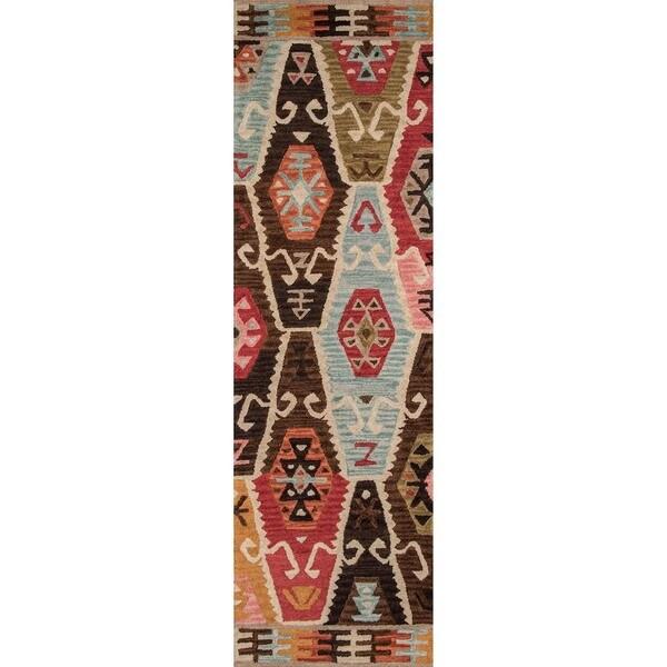 "Momeni Tangier Multicolor Hand-Tufted Wool Runner Rug - 2'3"" x 8'"
