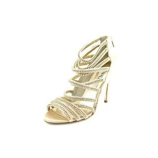 Nina Women's Memory Goldtone Satin Sandals
