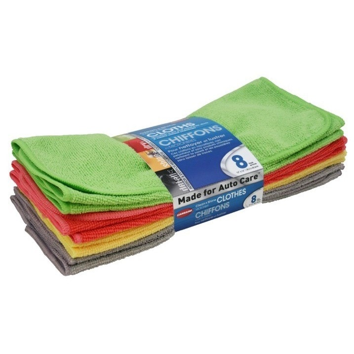 8-piece Multi-pack Microfiber Towels (8 pc Multi Pack Mic...
