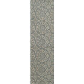 Uzbek Exhale Hand-Hooked Wool Indoor Rug (2'3 x 8')